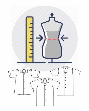 size measurement_lab coat
