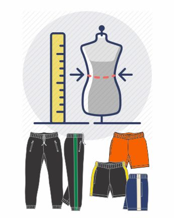 size measurement_track bottoms and board shorts