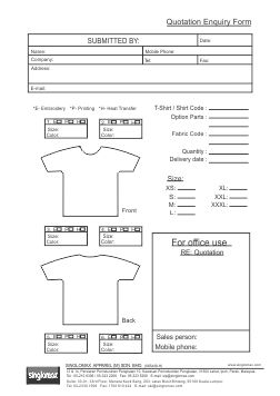 Quotation Enquiry Form